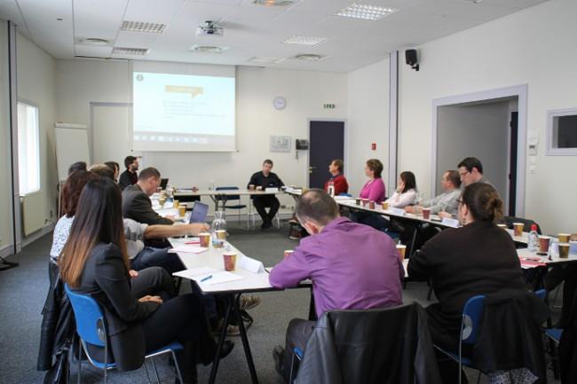 Vue du groupe de travail communication de Pôle DREAM, 1er avril, à la CCI du Loiret