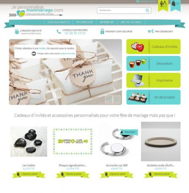 Site e-commerce : je personnalise mon mariage