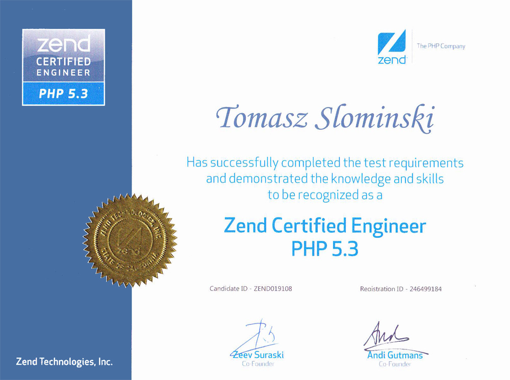 kiwik certifié zend php