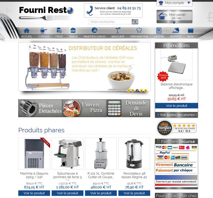 Fourni Resto Site E Commerce B To B Prestashop