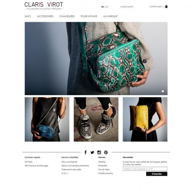 clarisvirot.com, accessoires en python véritable.