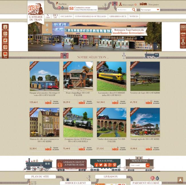 latelierdutrain.com, vente en ligne de modélisme ferroviaire