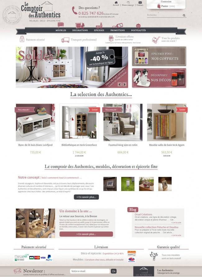 Site E-commerce développé sous Prestashop