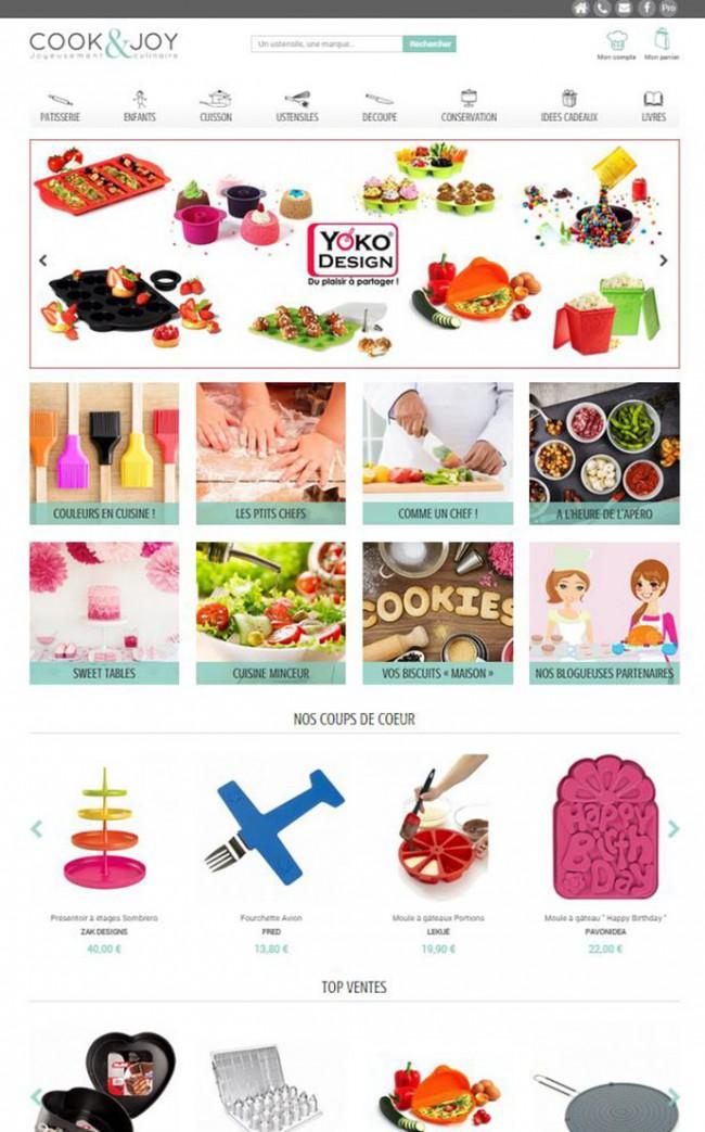 Site E-commerce responsive d'ustensiles de cuisine