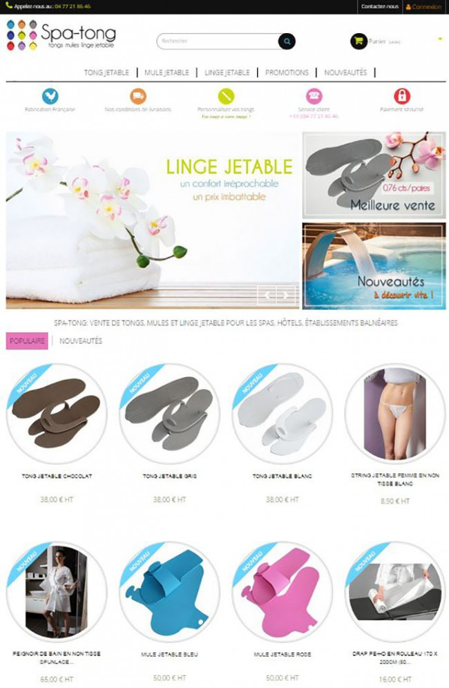 Spa Tong site e-commerce responsive