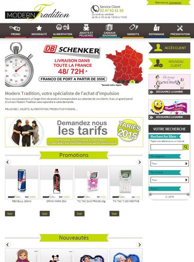 Modern Tradition : site e-commerce BtoB Prestashop