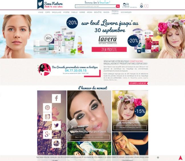 Sens Nature vente en ligne de produits cosmétiques