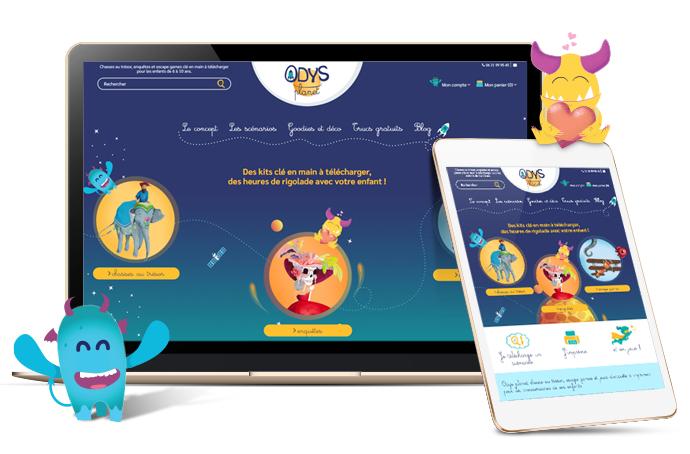 Odys PLanet site e-commerce PrestaShop produits dématérialisés - Kiwik